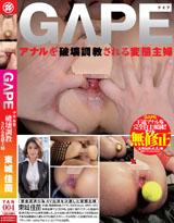 GAPE アナルを破壊調教される変態主婦 東城佳苗